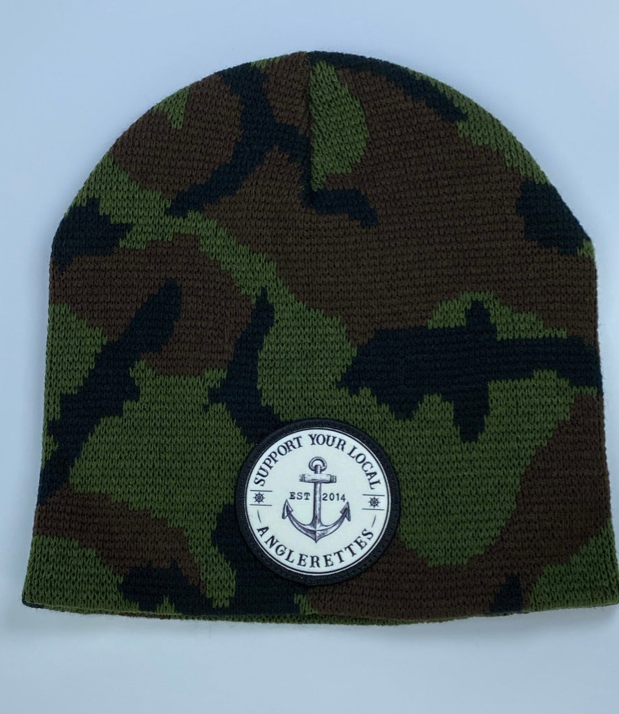 New!! Support your Local Anglerettes Camo Beanie