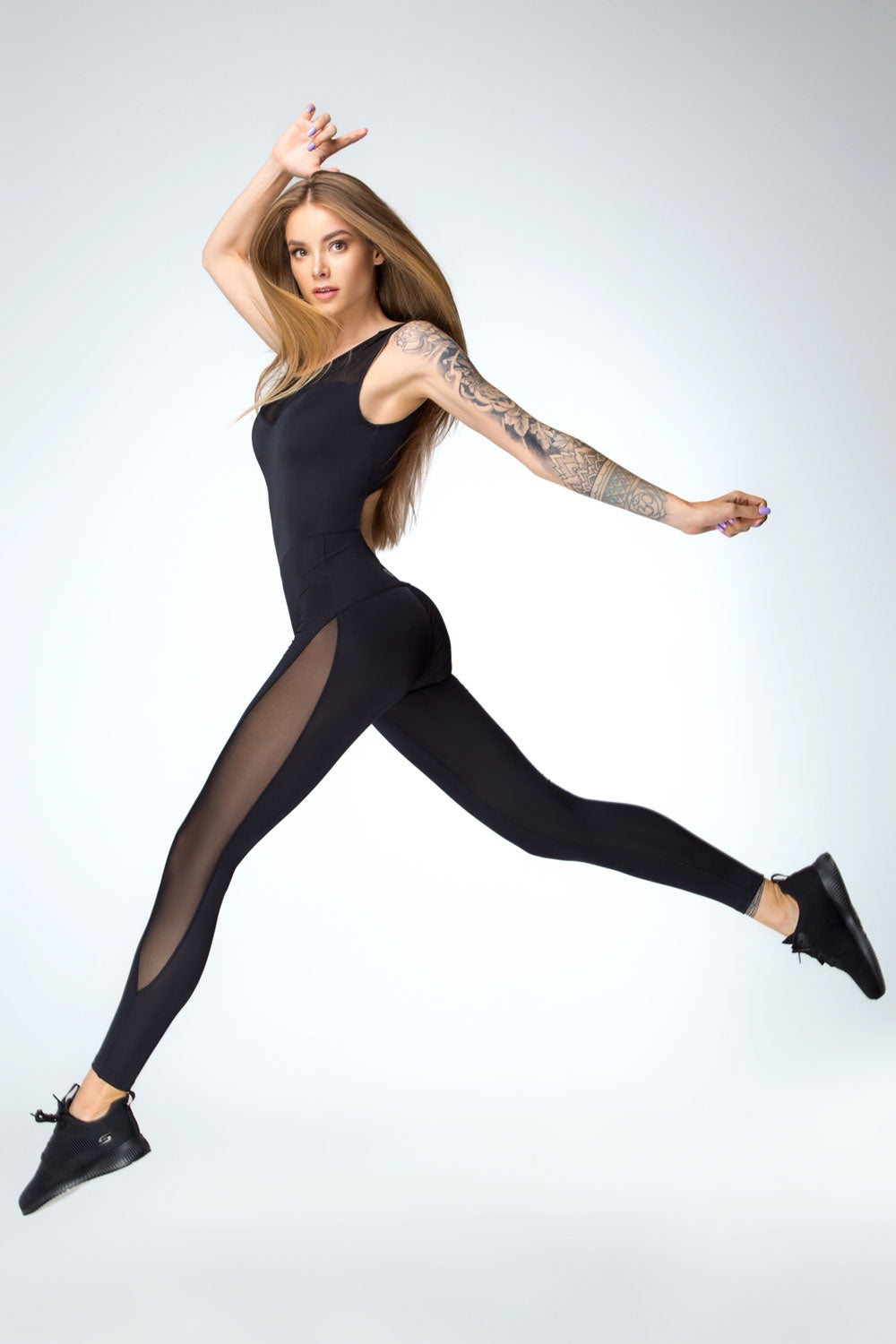 Jumpsuit Sexy Black Designed For Fitness Australia