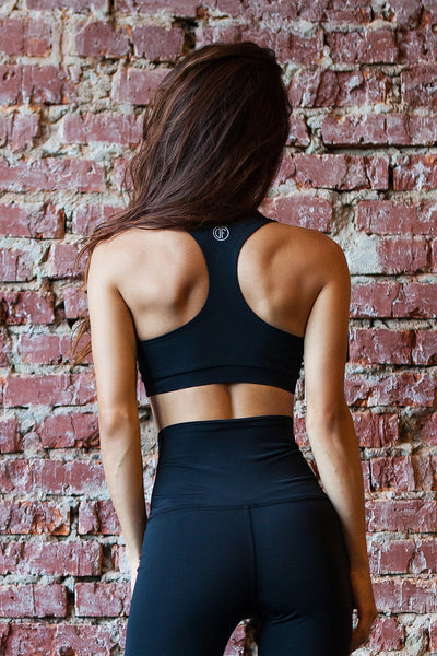 Bra Black Corset Designed for Fitness Australia back