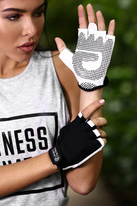 Gloves Black-White Designed for Fitness Australia