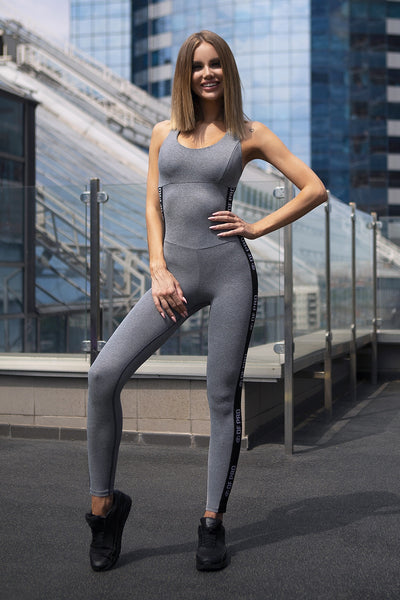 Jumpsuit Pro Fitness Grey Designed for Fitness Australia