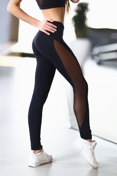 Leggings Basic Black Designed for Fitness Australia Side