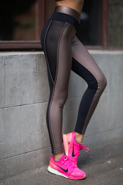 Leggings Disco Nude Designed for Fitness Australia side