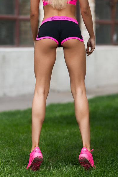 Shorts Basic Pink Designed for Fitness Australia back