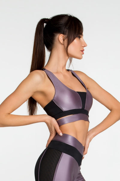 Top Bra Disco Violet