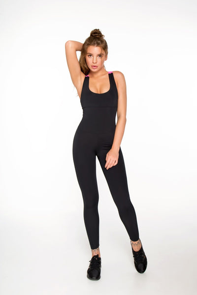 Jumpsuit Black N Rose Designed for Fitness Australia