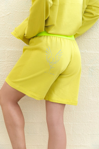 Cotton Shorts Lime FIT BIRD
