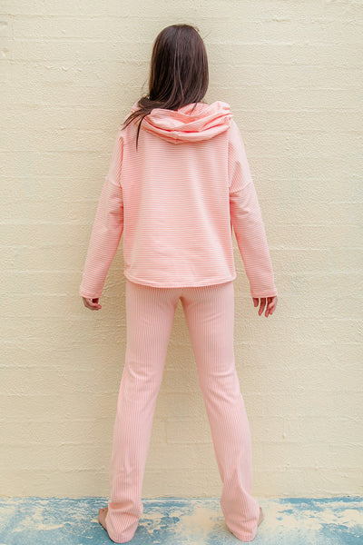 Stripes in Peach Hoodie