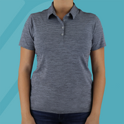 Women's Heather Stripe Polo