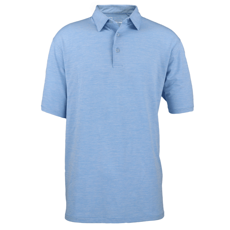 Men's Heather Stripe Polo
