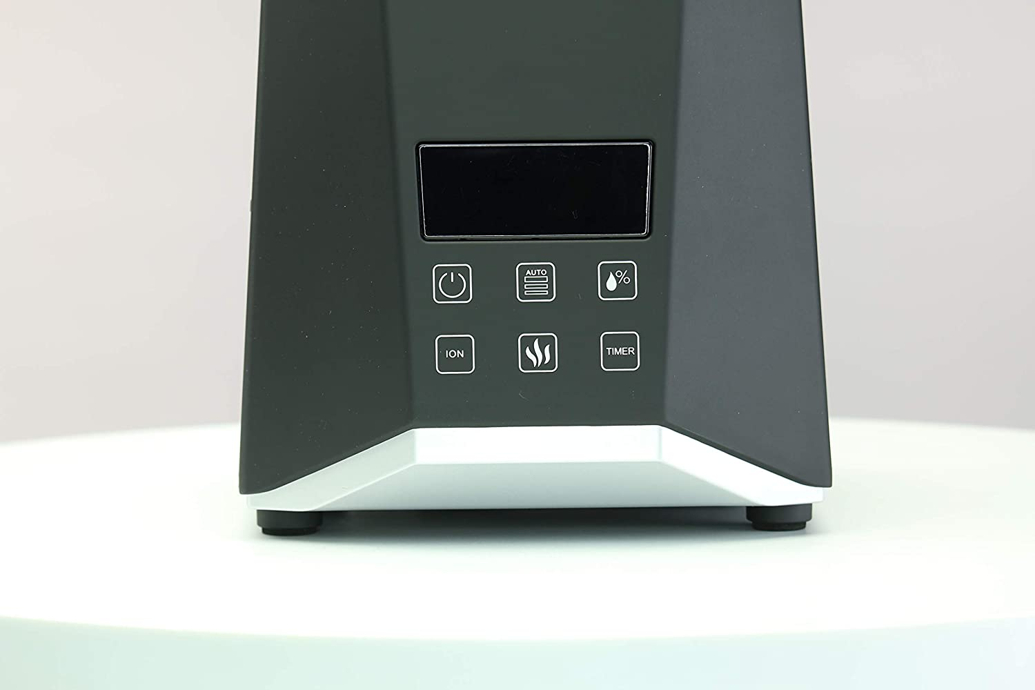 PowerPure 5000 Warm & Cool Mist Ultrasonic Humidifier - Permanent Filter - LCD Display - Remote Control Included - Black