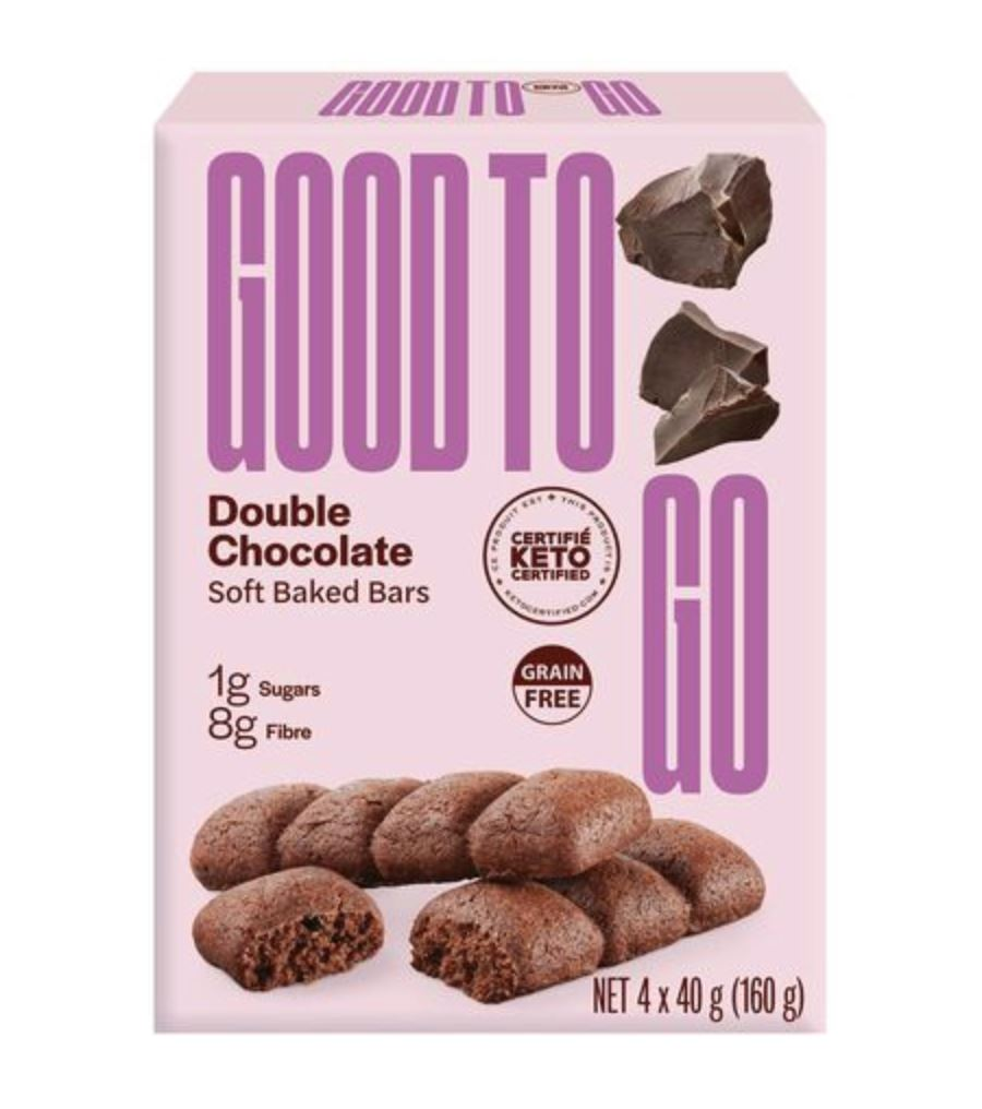 Good To Go Keto Double Chocolate Soft Baked Bars - 4x40g Snacks Good To Go