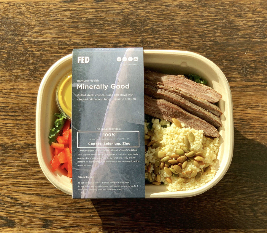 Minerally Good - Grilled Beef Couscous & Kale Bowl Ready-to-Eat The Grocery Store by Fed
