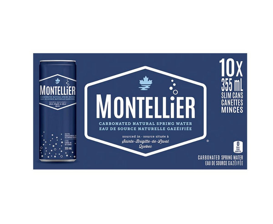 Montellier Carbonated Natural Spring Water - 10x355ml non-alcoholic drink Montellier