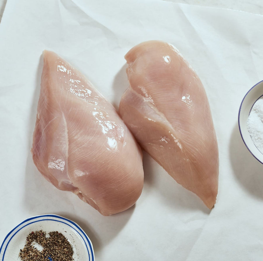 Organic Boneless/Skinless Chicken Breasts - 2 Breasts (Frozen) - Approx. 454g Protein Two Rivers Meats North Vancouver
