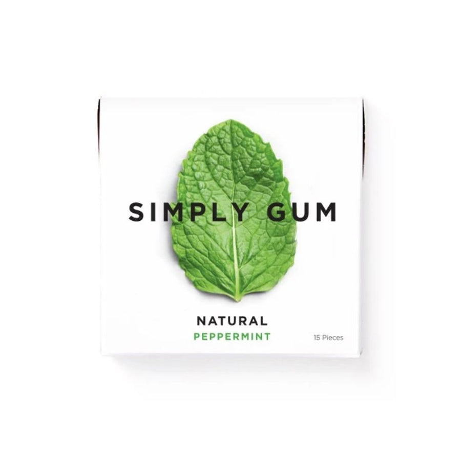 Simply Gum - Peppermint (15 pieces) Snacks Simple Gum
