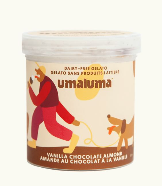 Vanilla Chocolate Almond Nut Dairy-Free Gelato - 473 mL Snacks Umaluma