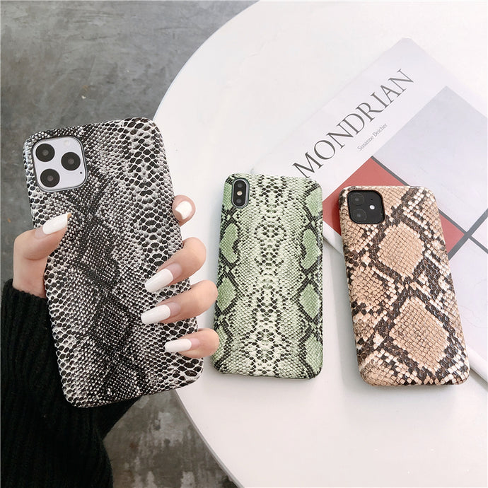 Luxury snake skin phone case