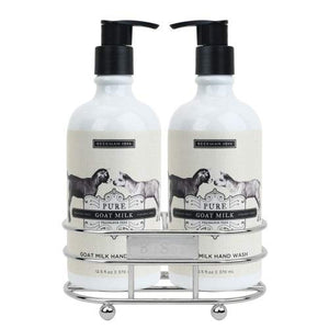 Beekman 1802 Pure Goat Milk Hand, Body Wash and Lotion - Caddy Set of 2  12.5 oz. Bottles