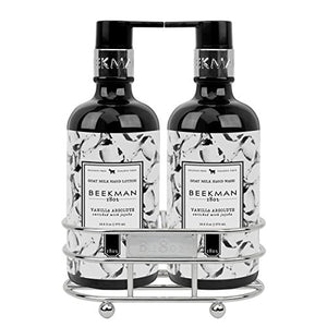 Beekman 1802 Vanilla Absolute Hand Wash & Lotion - Caddy Set of 2 - 12.5 oz.