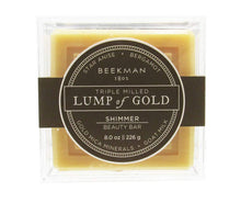 Load image into Gallery viewer, Beekman 1802 LUMP OF GOLD GOAT MILK Shimmer Beauty Bar - 8 Ounces