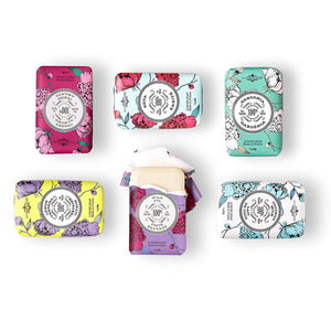 La Chatelaine Soap Collection, Lemon Verbena, Cherry Almond, Coconut Milk, Shea, Wild Fig, Gardenia
