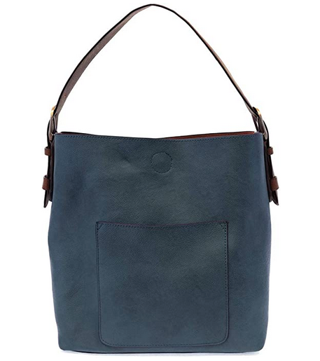 Joy Susan Women's Classic Hobo 2-in-1 Handbag - Dark Chambray