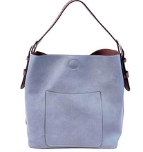 Load image into Gallery viewer, Joy Susan Women's Classic Hobo 2-in-1 Handbag - Periwinkle