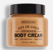 Load image into Gallery viewer, Beekman 1802 Pot Of Gold Shimmer Whipped Body Cream - 8.0 Fluid Ounce