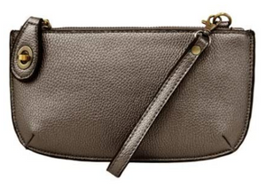 Joy Susan Mini Crossbody Wristlet Clutch - Metallic Pewter