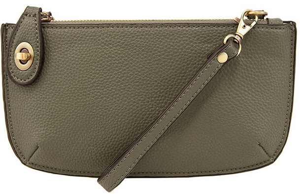 Joy Susan Women's Lustre Lux Crossbody Wristlet - Pine Green