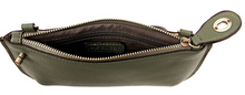 Load image into Gallery viewer, Joy Susan Women's Lustre Lux Crossbody Wristlet - Pine Green