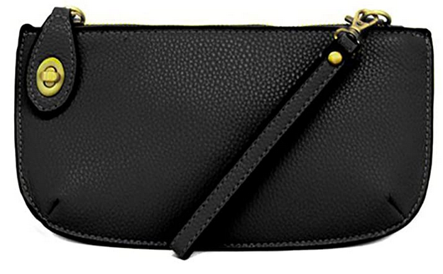 Joy Susan Women's Lustre Lux Crossbody Wristlet - Black