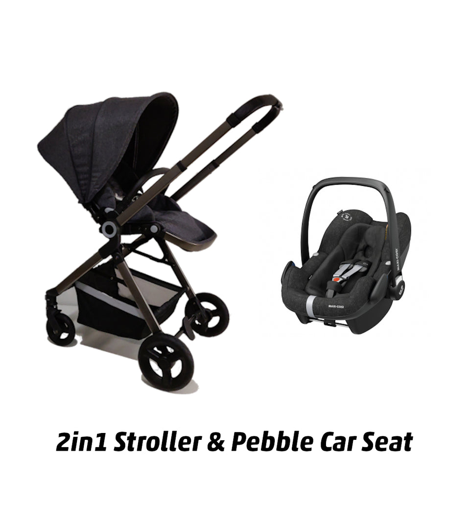 2 in 1 Stroller and Pebble Plus Car Seat - AlfaKids