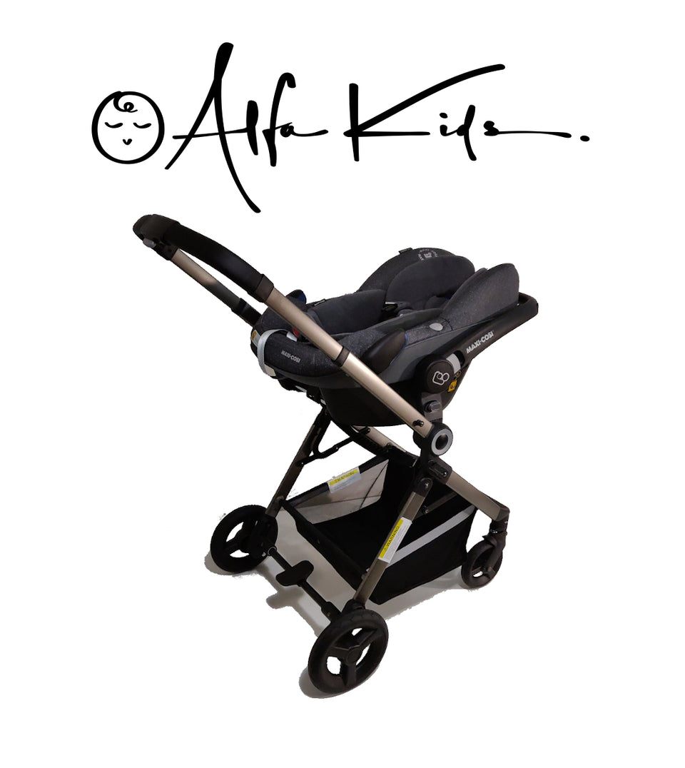 3 in 1 Stroller, Carrycot and Pebble Plus Car Seat - AlfaKids