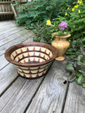 Walnut, Cherry and Ash Segmented Wood Fruit Bowl