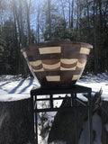 Black Walnut, Cherry and Maple Segmented Bowl  ***SOLD
