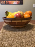 Walnut, Cherry and Maple Segmented Wood Fruit or Bread Bowl