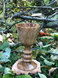 Decorative Oak Wood Chalice