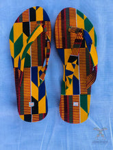 Load image into Gallery viewer, African Print Kente Flip-flop/ Slippers