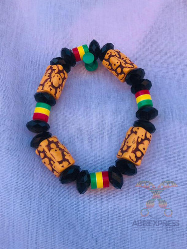 Traditional colourful beaded bracelet