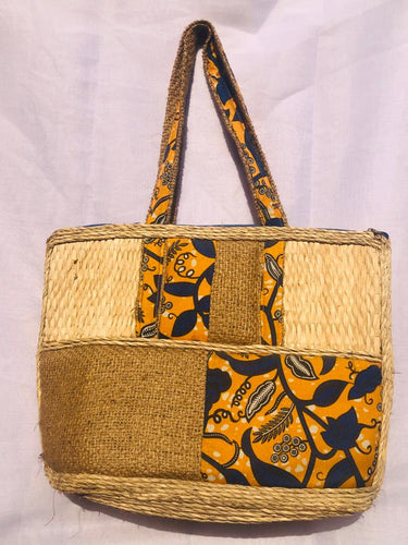 Straw, Sack And Ankara Bag
