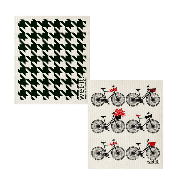 black bicycles set