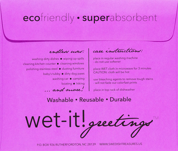 wet-it! greetings envelope lavender