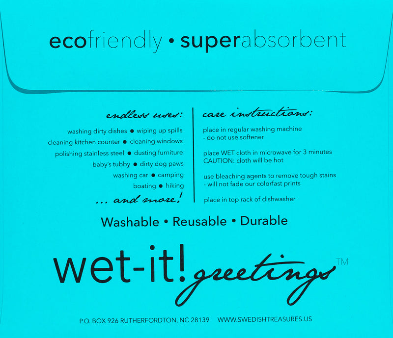 wet-it! greetings envelope teal