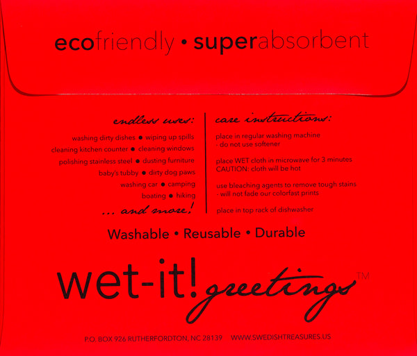 wet-it! greetings envelope red