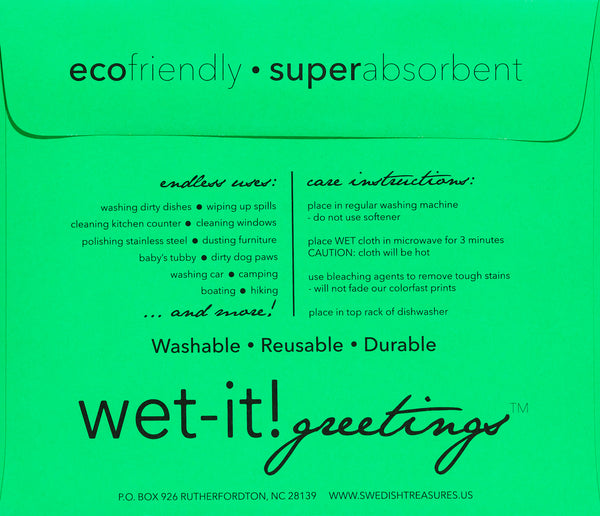 wet-it! greetings envelope green