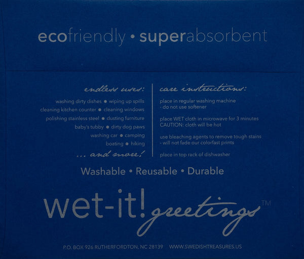 wet-it! greetings envelope blue