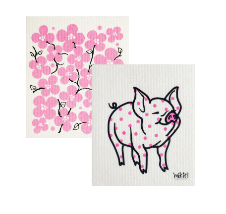 pretty in pink pig set