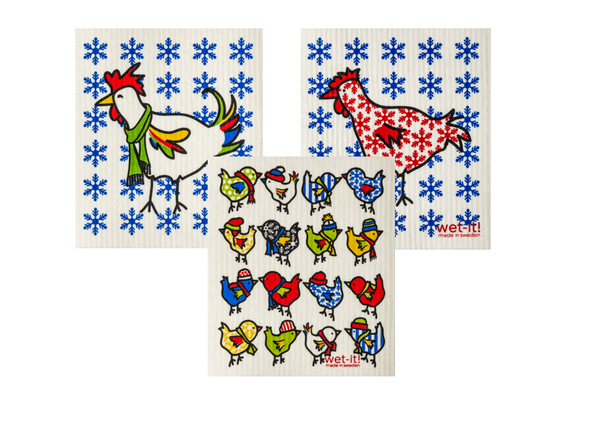 winter chicken family set